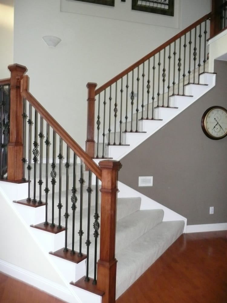 Staircase remodel 0111 all things interior for Stair and railing solution