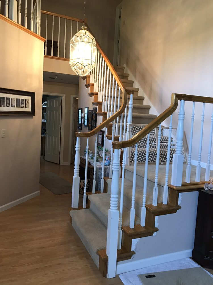 Stair Remodel, Stair Parts Wrought Iron Stair Balusters And Wooden Stair  Railing