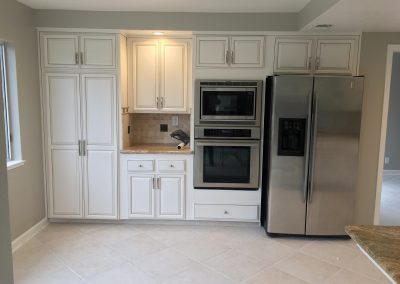Painted oak cabinets turn out beautiful