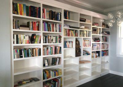 New built bookshelf