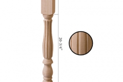 Stair parts wood newels - 5175