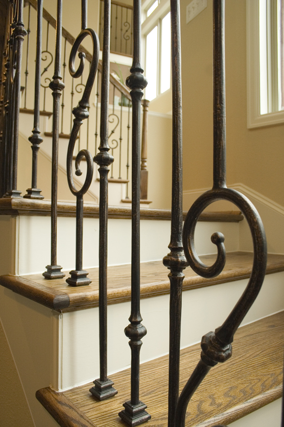 wrought iron newels for stair parts