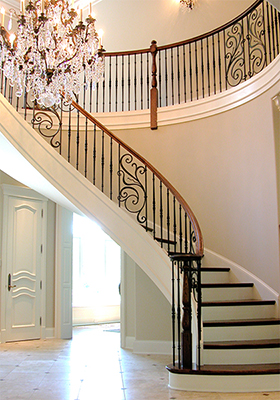 wrought iron panels and stair parts