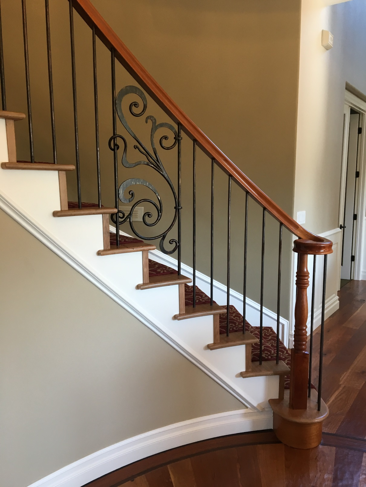 Beautiful Elegant Cherry Railing With Oil Rubbed Bronze