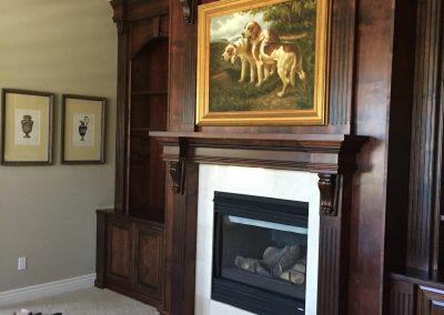 Elaborate built alder cabinets