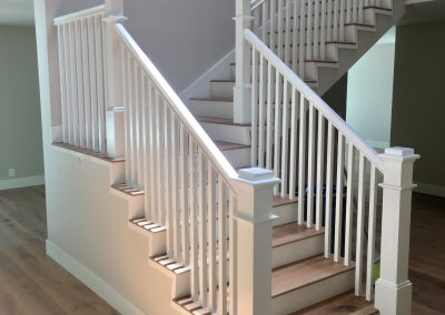 All White painted railing clean lines -c
